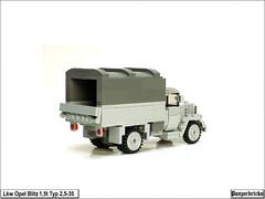OpelBlitz15t-05 (Panzerbricks) Tags: panzer panzerbricks lego wehrmacht opelblitz1 5t lkw