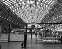 Father & Son at the Train Station (beltz6) Tags: london england unitedkingdom gb trainstation railroadstation stpancrasrailwaystation stpancras londonstpancras stpancrasinternational train railroad trainshed eurostar chunnel
