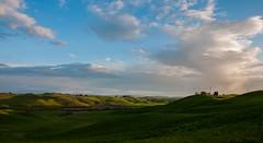 Crete senesi (MicSbarde) Tags: beautiful relax sky clouds landscape photograph photo tuscany italy places light sun sunset colline siena cretesenesi