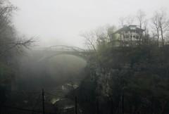 Morning walk on a foggy day (kjankov) Tags: landscapes landscape cliffs cliff cornelluniversity cornell nature morning misty mist foggy fog bridge gorges gorge
