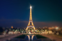 Eiffel Tower illuminated (Dmitry Yelloff) Tags: tower eiffel capital sight landmark attraction place scenery view perspective panorama illumination light twinkle glow fare glare gleam travel tourism tour highlight heart reflection bokeh soft gentle romantic touristic amorous miraculous fairy evening blue night trip paris france avenuegustaveeiffel champdemars seine quaibranly placedutrocadero trocaderogardens palaisdechaillot ecolemilitaire pontdiena explore trending new ngc best