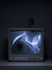 """""""Magnetic Distortion"""" 2017 (CreativePhotographer17) Tags: img6306 magnet crt screen cathode ray tube distortion light"""