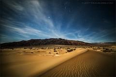 Mesquite Night (TomGrubbe) Tags: deathvalley desert mesquitedunes night stars clouds sand californialandscape