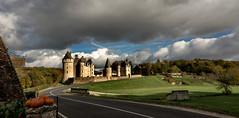 Montpoupon, France (Thierry1949) Tags: châteaux france montpoupon clouds landscape medieval moyenâge citouilles ciel nuages route sonya77v