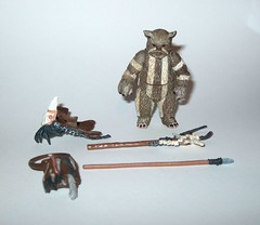 VC55 logray ewok medicine man star wars the vintage collection star wars return of the jedi basic action figures hasbro 2011 1b (tjparkside) Tags: vc55 logray ewok medicine man star wars vintage collection return jedi basic action figures hasbro 2011 endor ewoks episode 6 six vi rotj battle pouch headgear staff spear weapon weapons