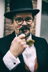 De collecteur (didjtijn) Tags: portrait street festival haarlem anton pieck wilhelmina dickens