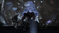 Holo Ambitions (BarricadeCaptures) Tags: transformers war for cybertron wfc chapter vi 6 defend iacon decepticon leader megatron hologram autobot optimus scientist ratchet scout bumblebee energon blaster pistol ion medic game screenshot screencap