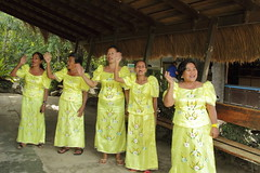 singers greating us at arrival at El Nido airport 1 (Journey of A Thousand Miles) Tags: philippines elnido asia 2017 palawan seascape ocean sea island