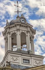 Victoria Hall Clock - Cobourg Ontario (HDR) (Reddad Ford) Tags: 1860 cobourg hdr ontario spring victoriahall blueskies clock restored