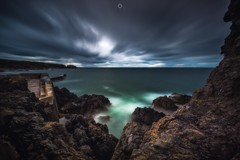 Underwater Illuminations (Augmented Reality Images (Getty Contributor)) Tags: canon clouds coastline colours harbour landscape leefilters littlestopper longexposure morayfirth portknockie rocks scotland water waves