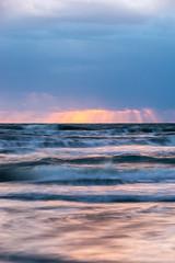 Powerful Sunrise (michaelaundrejonesjr) Tags: ocean sunrise water florida clouds slowshutter waves sun blue orange sigma sony landscape golden bright sprintime springtime beach sky sunset sea