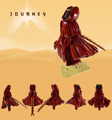 Journey Figure (Melan-E) Tags: journey sony exclusive game toronto torolug gamerlug figure dark red sand desert playstation