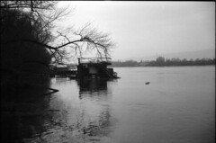 sweet Home (Arpádkoos) Tags: duna budapest river sweethome blackandwhite pier