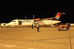 Air Serbia ATR-72 plane at Podgorica airport (Timon91) Tags: crna gora montenegro црна гора serbia servië serbien srbija srbije србија србије подгорица podgorica beograd belgrado belgrade београд