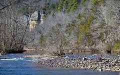 White Water Rapids and the Blue Waters of the Buffalo National River