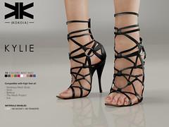 Kylie :: Woman Shoes :: 10 Colors ({kokoia}) Tags: kylie mesh kokoia slink shoes shoe feet black pack maitreya belleza themeshproject tmp stiletto pumps high eve summer heel straps secondlife virtual 3d woman