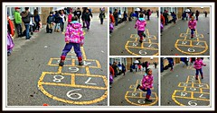 Hopscotch anyone? (Trinimusic2008 - stay blessed) Tags: trinimusic2008 judymeikle urban game child schoolyard april 2017 spring neighbourhood toronto to ontario canada hopscotch keira