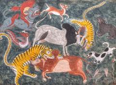 City Museum of Bhaktapur (AdjaFong) Tags: nepal gemälde painting tiere animals