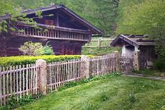 HFF  Alpenhütte im Westpark von München (Janos Kertesz) Tags: house wood village architecture travel nature old summer tourism mountain countryside roof alps green cottage