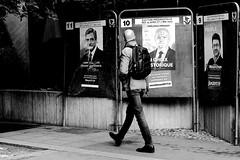 The choice (pascalcolin1) Tags: paris13 homme man élections affiches posters photoderue streetview urbanarte noiretblanc blackandwhite photopascalcolin