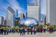 Cloud Gate (pattyg24) Tags: architecture building chicago cloudgate illinois thebean people reflection sculpture windows