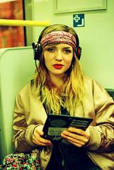 Matilde (davorzup) Tags: canon ae1 film filmisnotdead istillshootfilm analog analogsunrise travel april 2017 berlin germany matilde sings model subway ubahn jewelrymaking 50mm f14 woman girl people