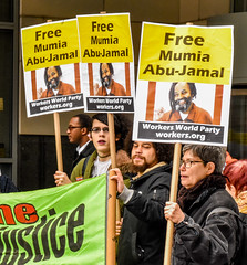 APRIL 24 Court Hearing for Mumia (joepiette2) Tags: prisons massincarceration protests demonstrations mumia justice