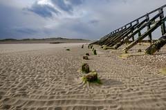 Receding tide (D1g1tal Eye) Tags: sea coast beach sand sky cloud perspective groyne defense nikon d7000 sigma 1020mm