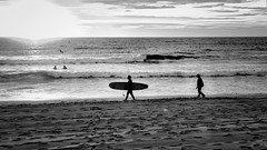 63+511: The dawn of the sun (10/16) (geemuses) Tags: manlybeach manly nsw sunrise dawn twilight sun color colour colors bright rainbow hues beach sand bw black white blackandwhite landscape scenery scenic anzacday water surf sky sea seaside shadow shadowyfigures sunset ocean