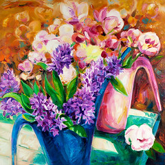 Fresh flowers (wallmistwallpaper) Tags: abstract art artistic artwork background beautiful beauty birthday blossom bouquet bunch canvas color decoration design drawing elegance floral flower gallery gift handmade holiday illustration image jug leaf love natural nature nosegay oil paint painter painting paintings paints petal picture plant posy pot present season spring summer table valentine vase wedding