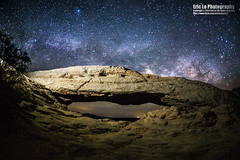 milky way over mesa arch (Eric 5D Mark III) Tags: longexposure sky usa rock night canon landscape photography star utah nationalpark arch unitedstates sigma wideangle fisheye canyonlandsnationalpark canyonlands moab stargazing milkyway mesaarch ericlo sigma15mmf28exdgfisheye eos5dmarkiii 5d3 15exdg
