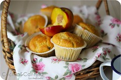 Peach and almond milk muffin (cucinaecantina) Tags: net milk yummy sweet peach almond muffin pesca chocolatechips pesche foodrecipe