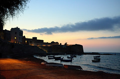 Trapani - Deep sunset (linfra1) Tags: sunset sea italy cloud tramonto mare barche luci sicilia trapani