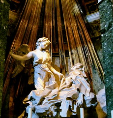 Bernini's Saint Theresa of Avila in Ecstasy (MJ_New York) Tags: santa summer italy church saint court high italia catholic counter post maria domination culture chapel triumph therese academia conservative baroque della bernini turning avila 2012 ecstacy vittoria reformation theatricality cornaro
