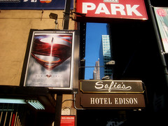 Man of Steel - New Superman Billboard theater Poster 0323 (Brechtbug) Tags: street new york city nyc blue red man work dark comics painting movie poster square book dc paint theater comic near steel character alien bat working broadway s superman billboard advertisement adventure hero superhero billboards knight worker shield times insignia krypton 46th 2013