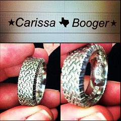 Wedding Engraving (Marissa Hughes) Tags: work texas tire jewelry ring engraving engrave jeweler