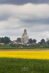 Vestiges de l'Abbaye du Mont-Saint-Eloi (CrËOS Photographie) Tags: sky green yellow jaune ruins village champs vert ciel fields patrimoine ruines abbaye