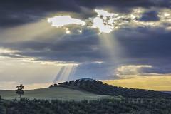 Ojos de Dios (Juan A. Bafalliu) Tags: atardecer nubes puestadesol campiacordobesa