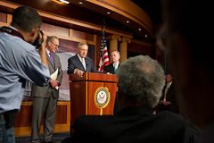 "Democratic Leadership held a press conferance on the continued obstruction by Senate Republicans of President Obama's executive and judicial nominees. • <a style=""font-size:0.8em;"" href=""http://www.flickr.com/photos/32619231@N02/8795692715/"" target=""_blank"">View on Flickr</a>"