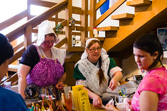 Cashiers (bill.d) Tags: woman holland dutch person glasses us store costume spring michigan unitedstatesofamerica sunny cashregister cashier tulipfestival clerk windmillisland tuliptimefestival 2013 allegancounty eos60d