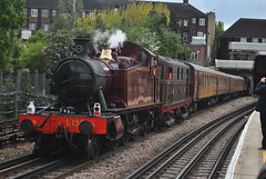 London Transport 150 steam engine passing Preston Road on the Met Specials (George-Odlum Transport Photography) Tags: road london underground preston londonunderground met metropolitan met1 lu150