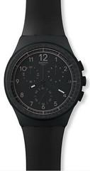 Swatch Black Efficency Mens Watch SUSB
