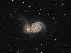 Whirpool galaxy M51 in  Canes Venatici (Oleg Bryzgalov) Tags: m51 deepspace astrophoto astro:subject=m51 feelingscolour competition:astrophoto=2013 astro:gmt=20130612t0126