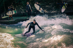 Downtown Wave Riding in Munich (sudoaptgetupdate) Tags: street summer germany munich mnchen bayern deutschland bavaria sommer surfing wellenreiten surfen eisbach waveriding downtownmunich eisbachwelle surfinginthecity rivereisbach bestshotssofar
