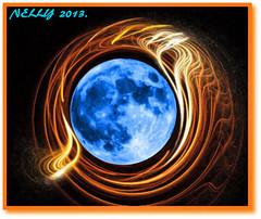 *HAPPY HOT SUMMER 2013!* (MONKEY50) Tags: blue summer moon abstract black flower color colour art colors digital colours surrealism fractal paintshoppro apophysis fractals hypothetical artdigital flickraward awardtree blinkagain musictomyeyeslevel1