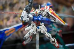 MG Strike Gundam HD remaster (KayOne73) Tags: anime japan toys four japanese la robot los model expo angeles cosplay olympus center hobby plastic micro convention kits ax gundam mecha omd bandai thirds gunpla plamo mft 2013 em5
