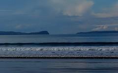 Long Bay Beach - Winter 2013 (SKR_Photography) Tags: ocean blue winter newzealand beach water waves auckland northshore land sunnyday crashing longbay longbaybeach favouritebeach