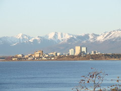 anchorage skyline (nate'sgirl) Tags: city snow mountains building alaska skyline anchorage cookinlet