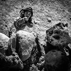 Innocence (FRAENA) Tags: girl rock blackwhite child desert salt bolivia innocence stick saltflats altiplano uyuni salardeuyuni salthotel