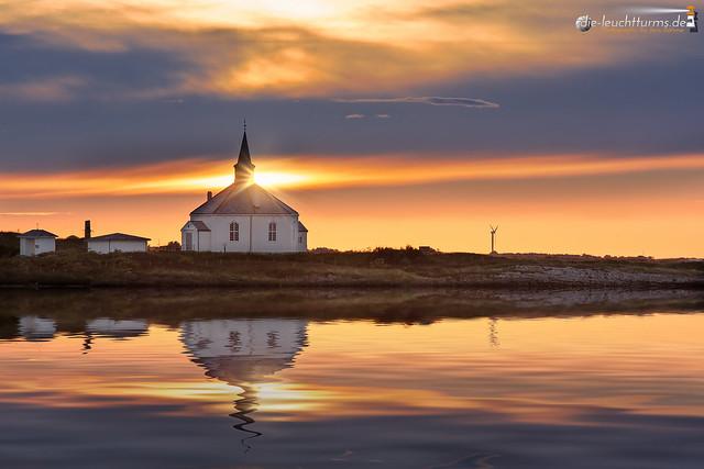 Chapel Dverberg in midnight sun
